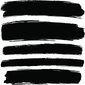 Grunge paint strokes