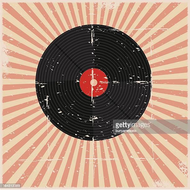 グランジ記録のポスター - アナログレコード点のイラスト素材/クリップアート素材/マンガ素材/アイコン素材