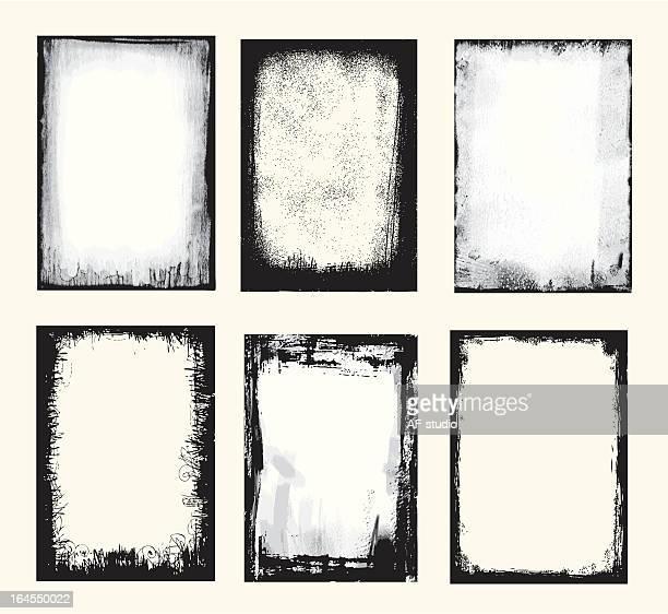 grunge set - distraught stock illustrations