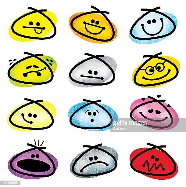 Grunge Smiley Emoticons