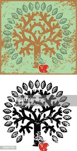Grunge tree of knowledge