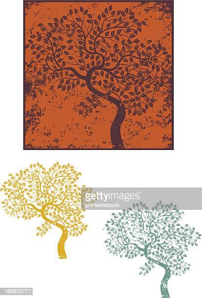Grunge verbogene Baum