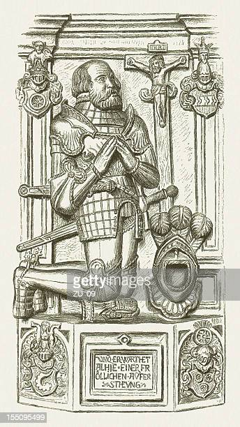 ilustrações, clipart, desenhos animados e ícones de götz von berlichingen - knight person
