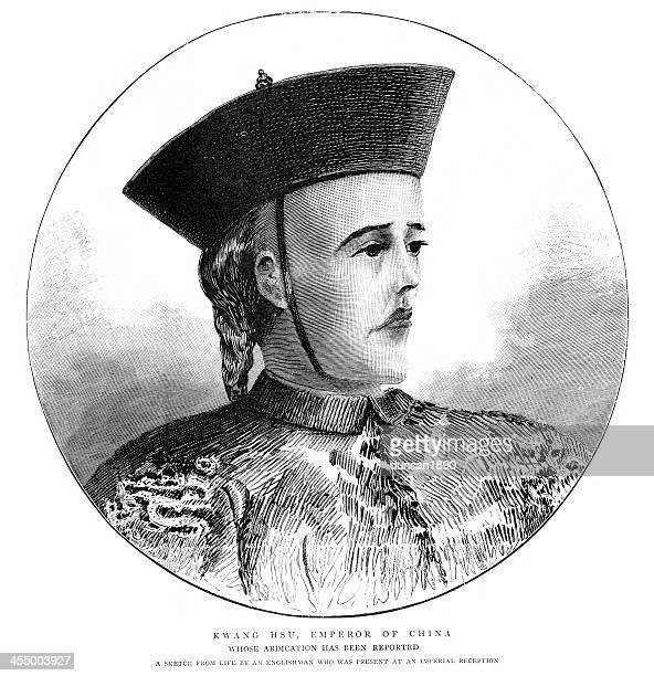 guangxu emperor - emperor stock illustrations