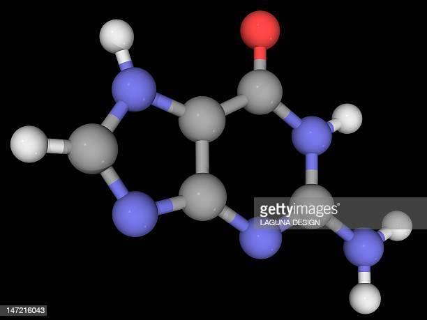 guanine molecule - rna stock illustrations, clip art, cartoons, & icons