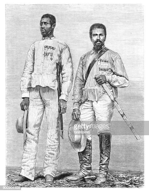 guerrillas coleto and leon on cuba 1875 - cuban culture stock illustrations, clip art, cartoons, & icons