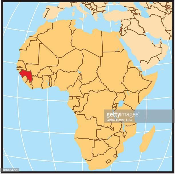 Guinea locator map