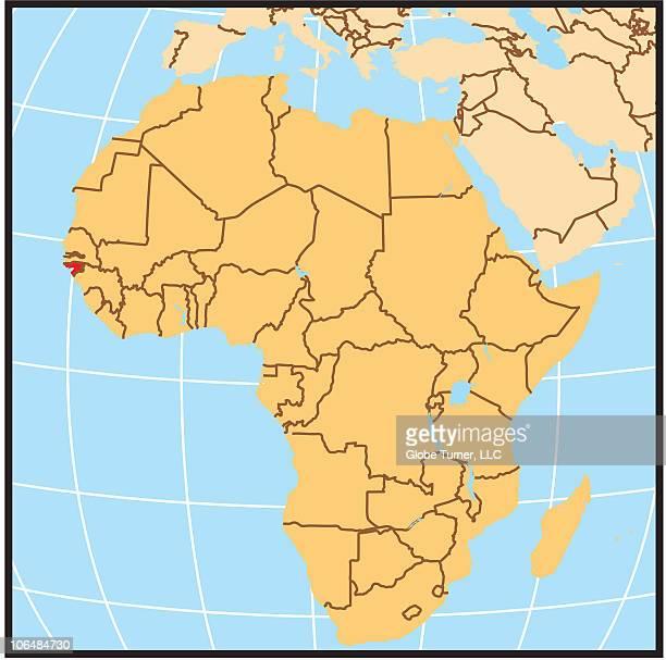 Guinea-Bissau locator map