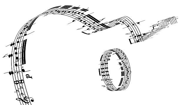 A Guitar Made Of Music Notes Wall Art