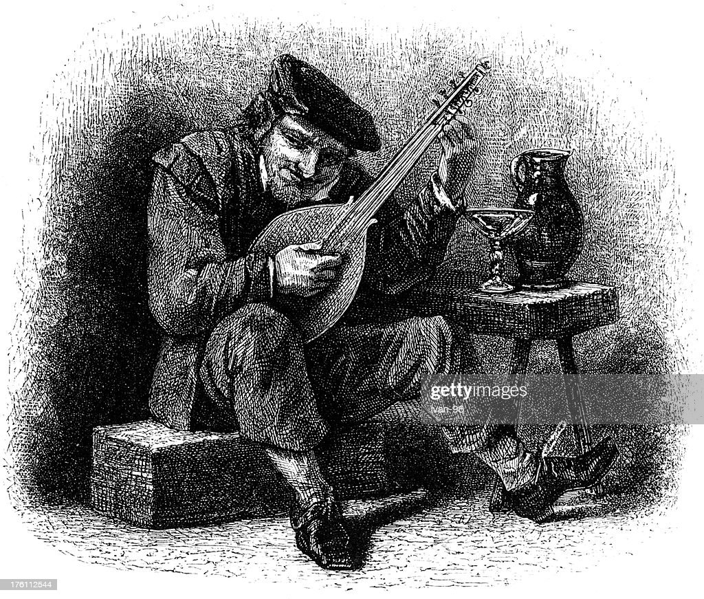 guitarist : stock illustration