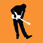 Guitarist with Small Guitar (vector illustration)