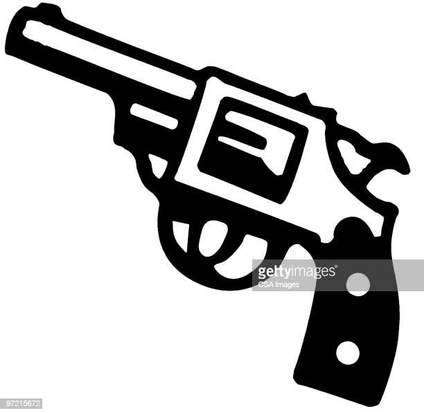 gun - handgun stock illustrations