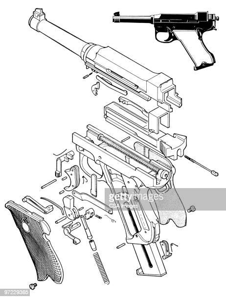 gun - image stock illustrations