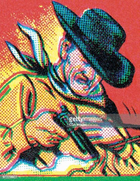 gun - american culture stock illustrations