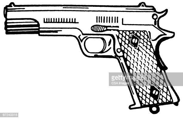 ilustrações de stock, clip art, desenhos animados e ícones de gun - armadefogo