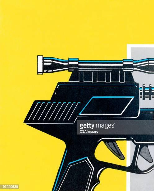 gun parts - trigger stock illustrations