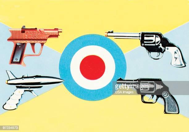 guns - murder stock illustrations, clip art, cartoons, & icons