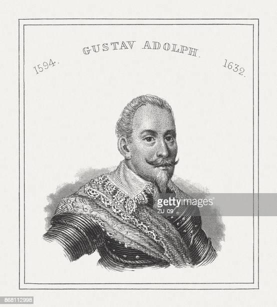 Gustav II Adolf (1594-1632), Swedish king, steel engraving, published 1843
