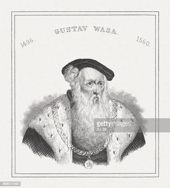 Gustav Vasa (1496-1560), King of Sweden, steel engraving, published 1843