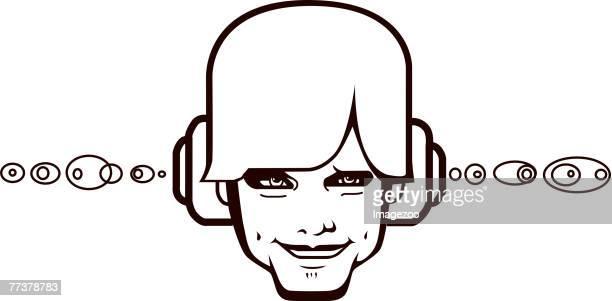 guy wearing headphones