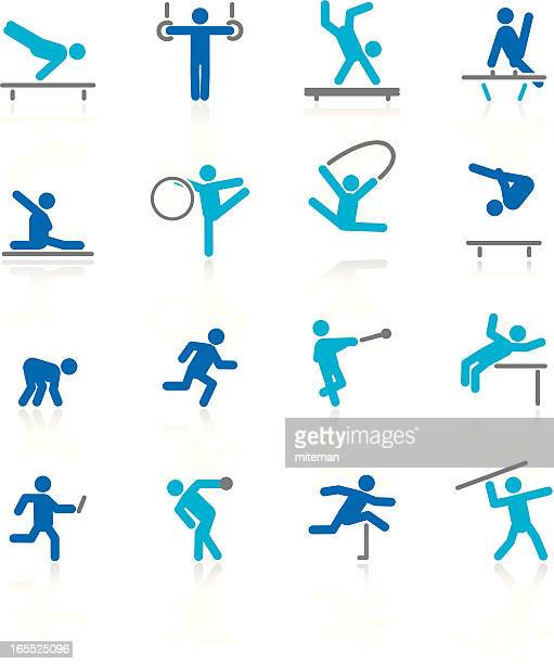 gymnastics & athletics | arctic collection - gymnastics stock illustrations