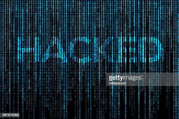 Hacked matrix background