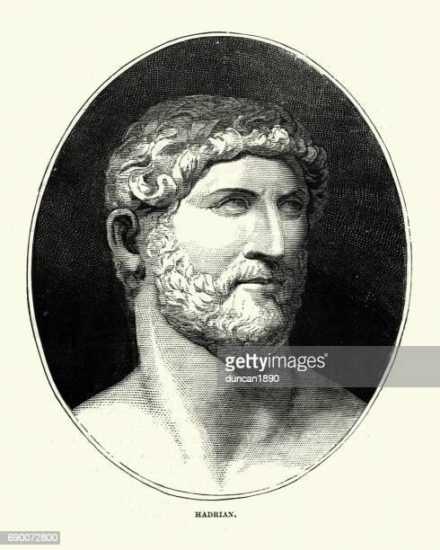 hadrian, roman emperor - northeastern england stock illustrations, clip art, cartoons, & icons