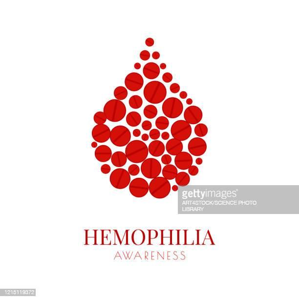 haemophilia, conceptual illustration - the alphabet stock illustrations