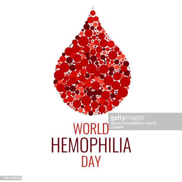 haemophilia, conceptual illustration - 暦月点のイラスト素材/クリップアート素材/マンガ素材/アイコン素材