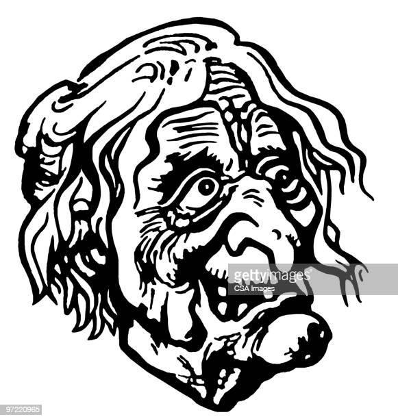 hag - ugliness stock illustrations, clip art, cartoons, & icons
