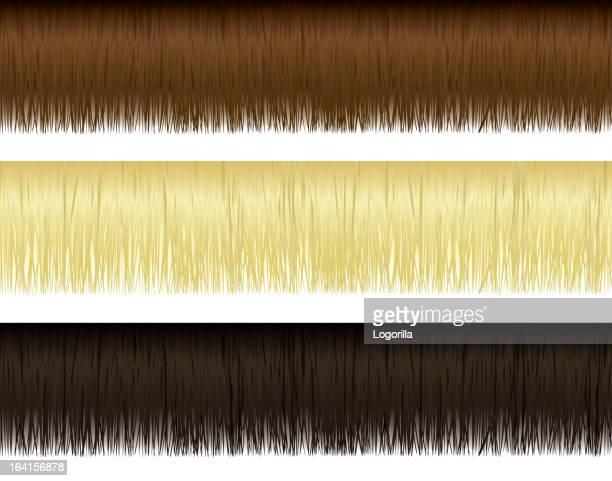 hair borders - bangs hair stock illustrations