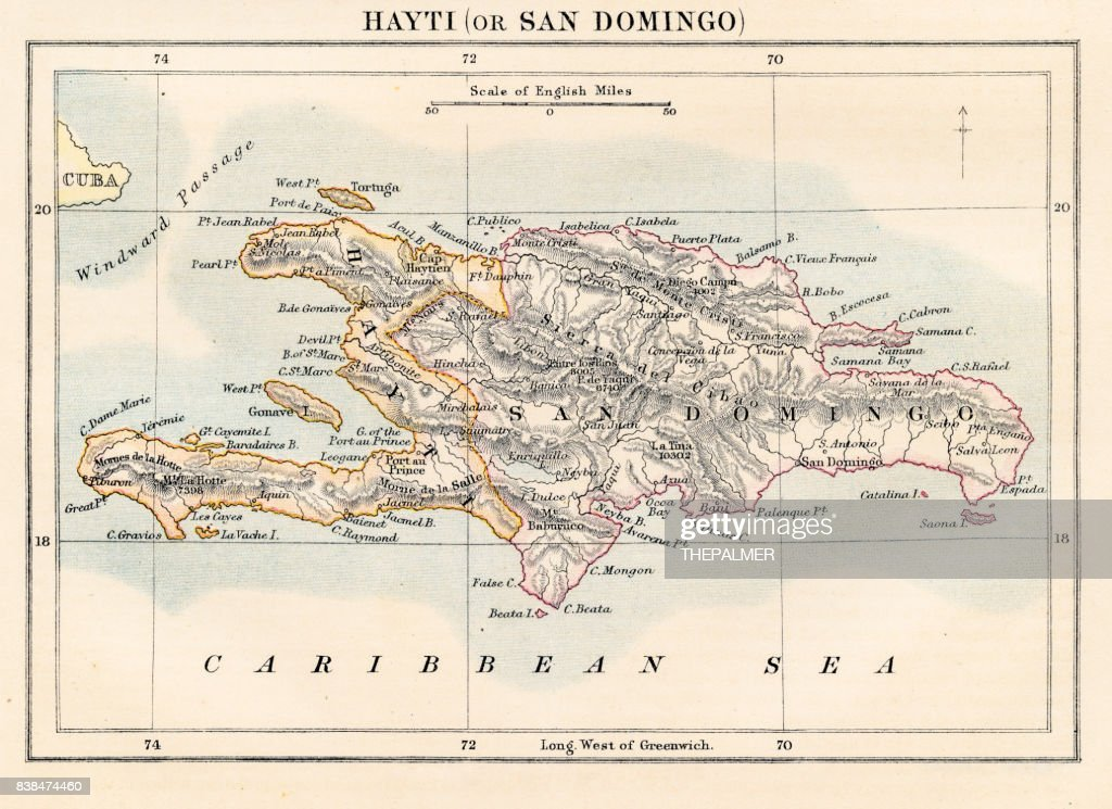 Haiti and dominican republic map 1883 stock illustration getty haiti and dominican republic map 1883 stock illustration gumiabroncs Gallery