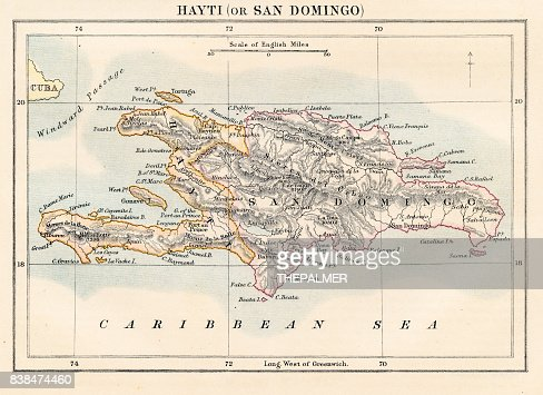 Haiti and dominican republic map 1883 stock illustration getty haiti and dominican republic map 1883 stock illustration getty images gumiabroncs Gallery