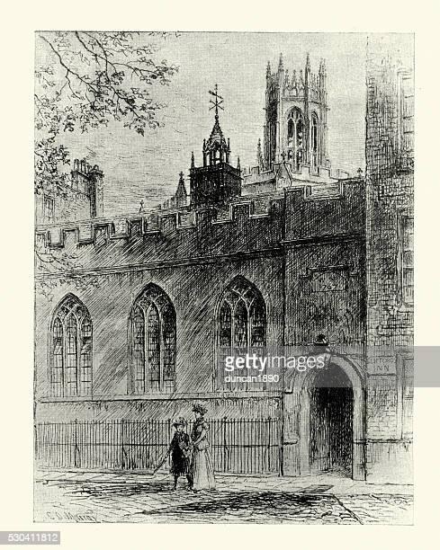 ホールで クリフォード イン、ロンドン、1899 年 - ギルドホール点のイラスト素材/クリップアート素材/マンガ素材/アイコン素材