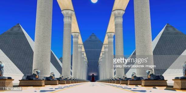 hall of the sphinx - nubia stock illustrations, clip art, cartoons, & icons