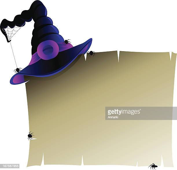 Halloween Banner with Witch's Hat