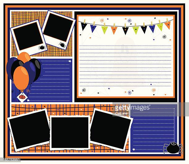 halloween party page - gift tag note stock illustrations, clip art, cartoons, & icons