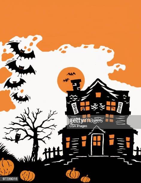 halloween scene - spooky stock illustrations