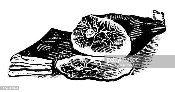 ham - meat stock illustrations