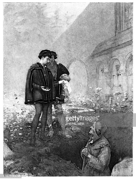 ハムレットとg5ravedigger彫刻1892 - 墓堀人点のイラスト素材/クリップアート素材/マンガ素材/アイコン素材
