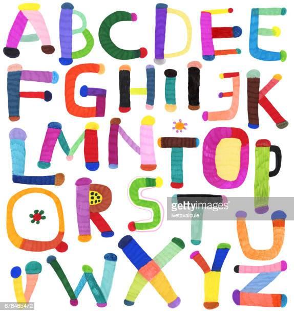 手描きのアルファベット
