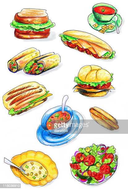 60 Top Salad Stock Illustrations, Clip art, Cartoons