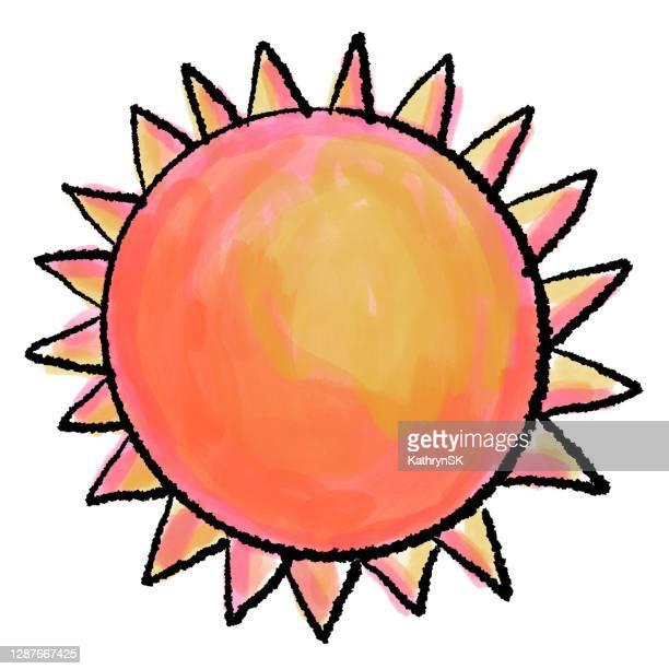 hand drawn sun - kathrynsk stock illustrations