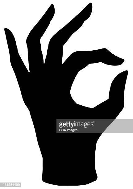 ilustraciones, imágenes clip art, dibujos animados e iconos de stock de hand making sign - mano humana