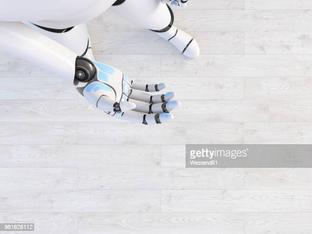 hand of a robot, 3d rendering - giving stock illustrations