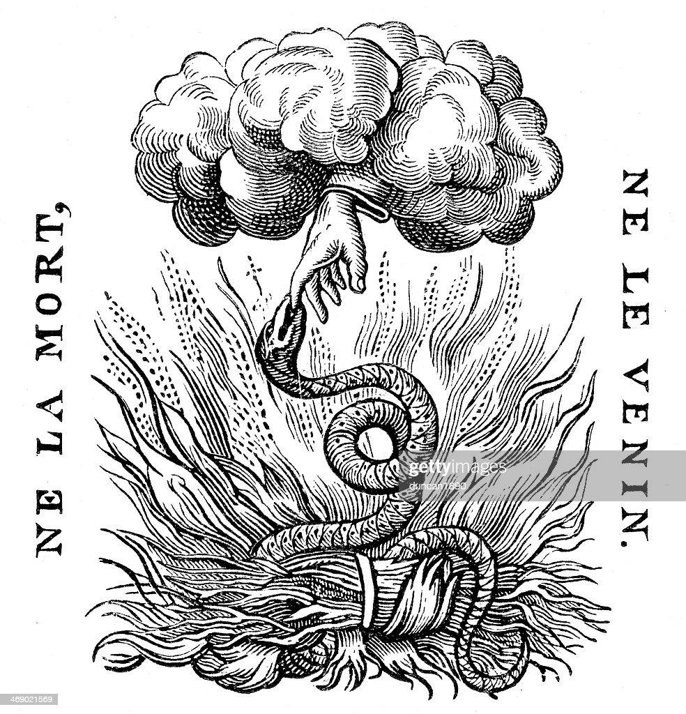 Hand of God : stock illustration
