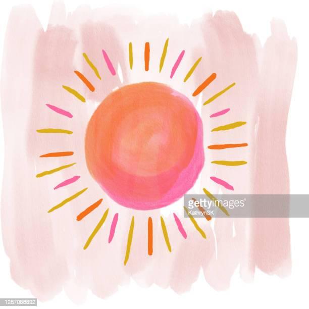 hand painted sun - kathrynsk stock illustrations