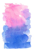 watercolor background pink blue for greeting