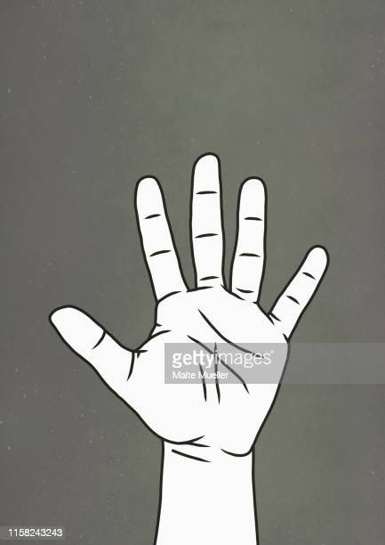 hand raised - participant stock illustrations