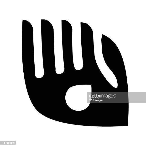 hand with drop - logo stock illustrations